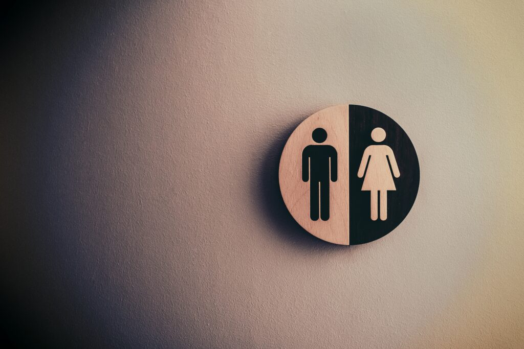 U zeichen mann frau Gender
