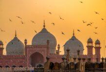 Badshahi Moschee in Lahore, Pakistan